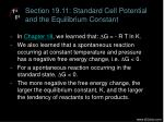 section 19 11 standard cell potential and the equilibrium constant