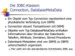 die jdbc klassen connection databasemetadata