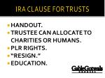 ira clause for trusts