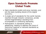 open standards promote global trade