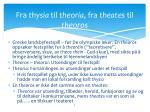 fra thysia til theoria fra theates til theoros
