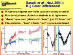 sasaki et al apj 2004 big color differences