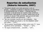 reportes de estudiantes roberto heinsohn 2007