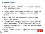process alarms