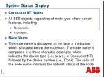 system status display