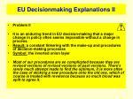 eu decisionmaking explanations ii