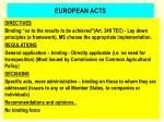 european acts