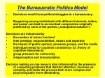 the bureaucratic politics model