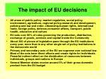 the impact of eu decisions