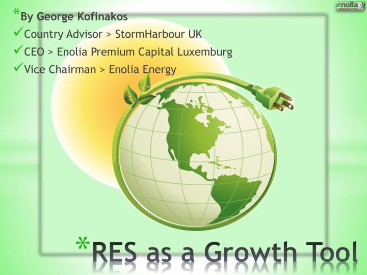 res as a growth tool n.