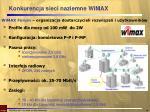 konkurencja sieci naziemne wimax