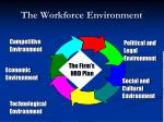 the workforce environment
