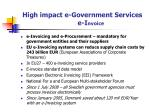 high impact e government services e i nvoice