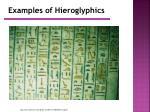examples of hieroglyphics