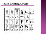 three egyptian scripts
