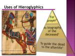 uses of hieroglyphics