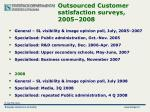 outsourced customer satisfaction surveys 2005 200 8