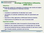strategy of statistics lithuania 2008 2012