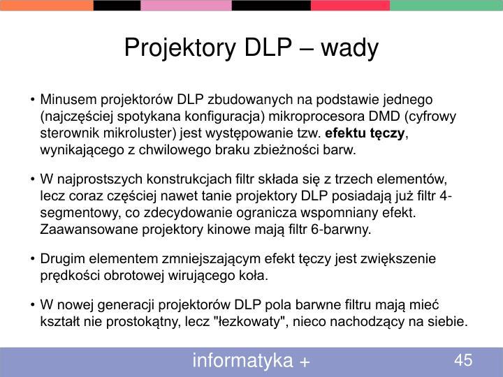 Projektory DLP – wady