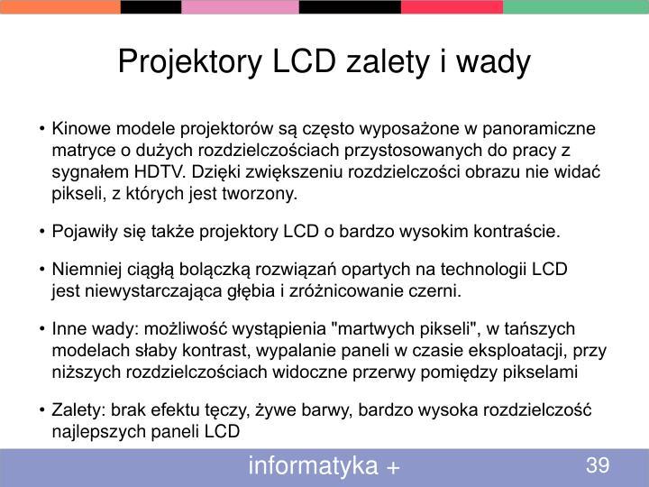 Projektory LCD zalety i wady