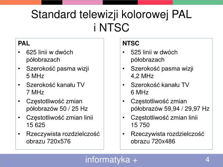 Standard telewizji kolorowej PAL