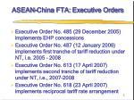 asean china fta executive orders