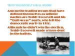 teddy rooselvelt s bull moose