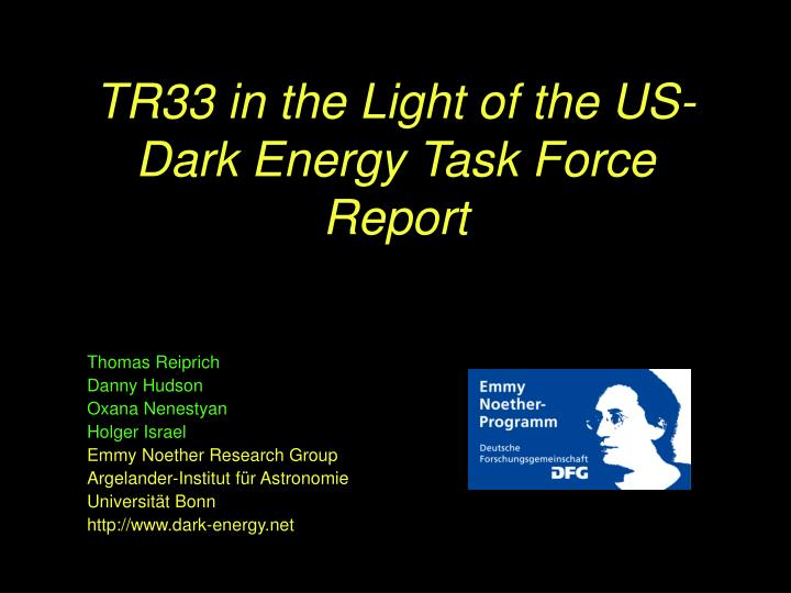 tr33 in the light of the us dark energy task force report n.