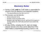 recovery rules