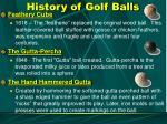history of golf balls