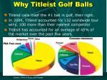 why titleist golf balls