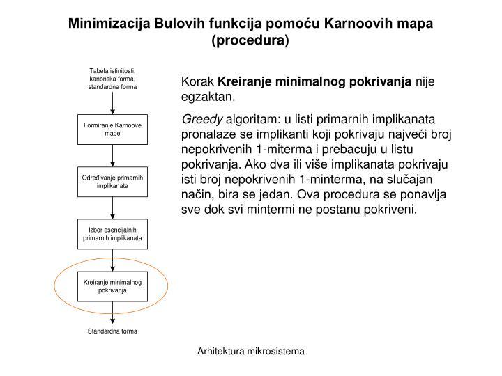 Minimizacija Bulovih funkcija pomoću Karnoovih mapa
