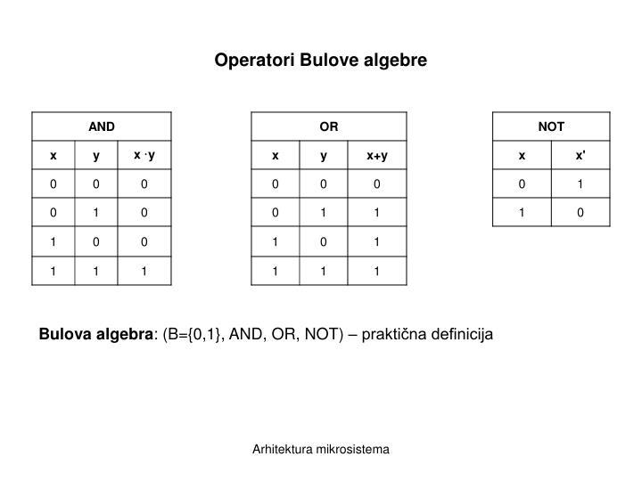 Operatori bulove algebre