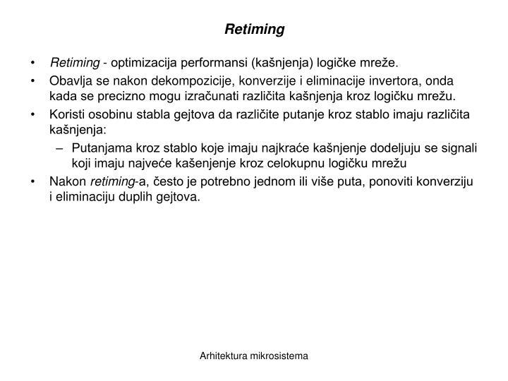 Retiming