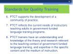 standards for quality training1