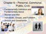 chapter 6 personal communal public civic
