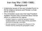 iran iraq war 1980 1988 background