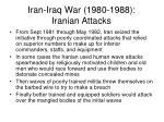 iran iraq war 1980 1988 iranian attacks