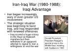 iran iraq war 1980 1988 iraqi advantage