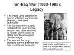 iran iraq war 1980 1988 legacy