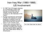 iran iraq war 1980 1988 us involvement