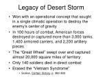 legacy of desert storm