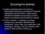 sociologinis tyrimas