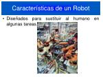 caracter sticas de un robot