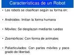 caracter sticas de un robot2