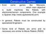 constructive games