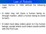 law of robotic
