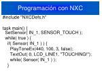 programaci n con nxc1