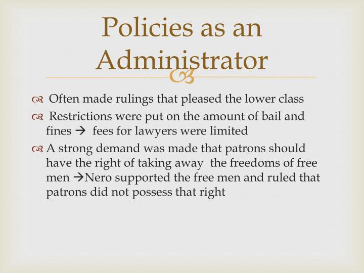 Policies as an Administrator