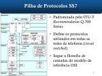 pilha de protocolos ss7